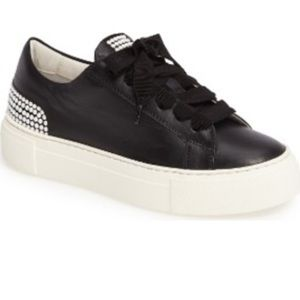AGL Black Sneakers with Pearls, size 36.5